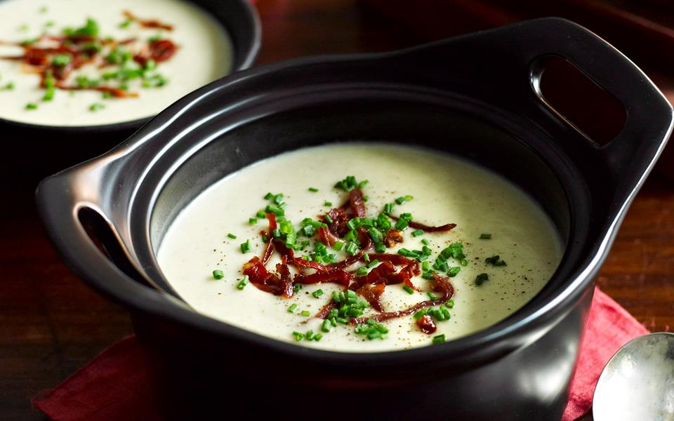 Potato and roasted fennel soup with crispy prosciutto recipe | FOOD TO ...