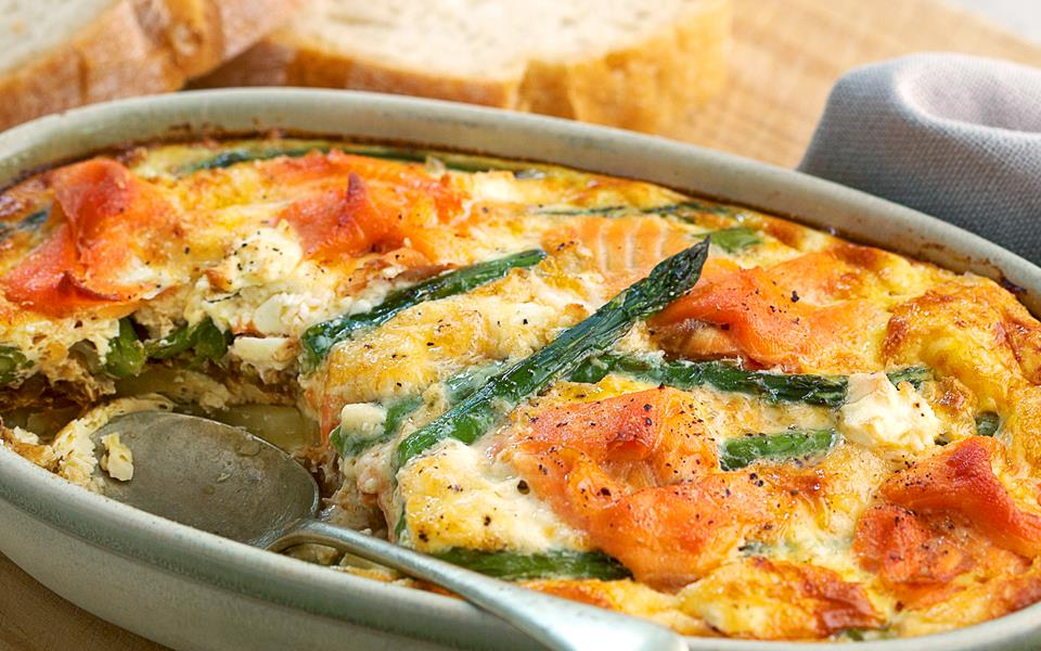 Smoked salmon and asparagus frittata recipe | FOOD TO LOVE