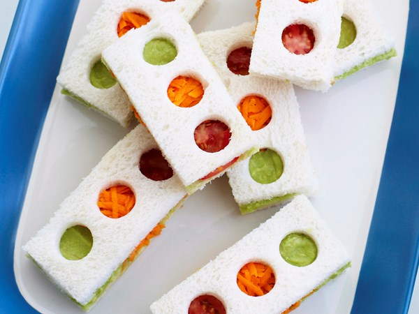Traffic light sandwiches