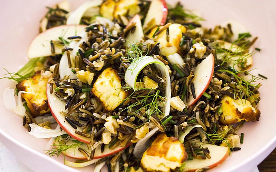 Wild rice, apple and fennel salad recipe | FOOD TO LOVE