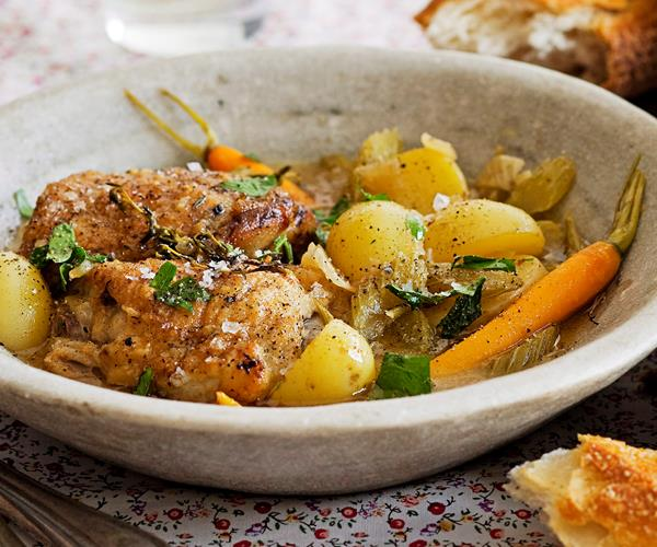 Braised chicken with thyme and sherry recipe | Food To Love