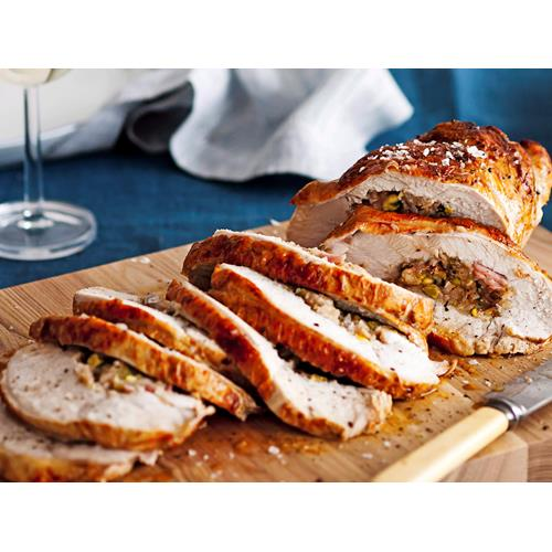 Fig and pistachio stuffed turkey breast recipe food to love for 3 8 kg turkey cooking time