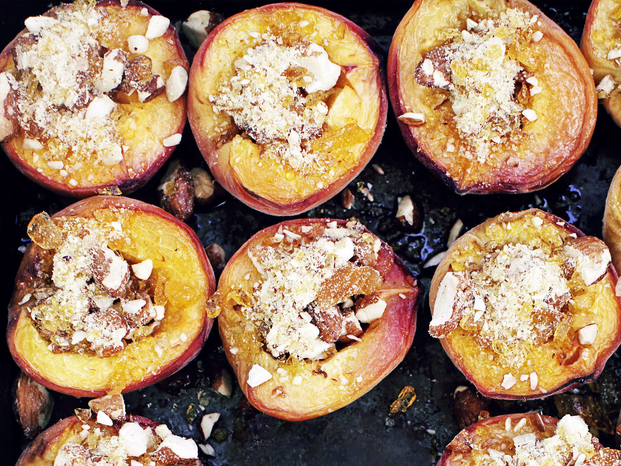 Baked Almond Peaches