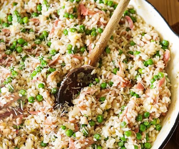 Pea and ham risotto recipe food to love for Ham risotto recipe
