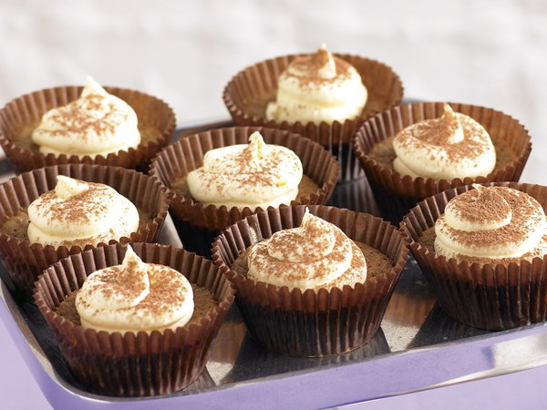 Cappuccino Cupcakes, White Chocolate Frosting