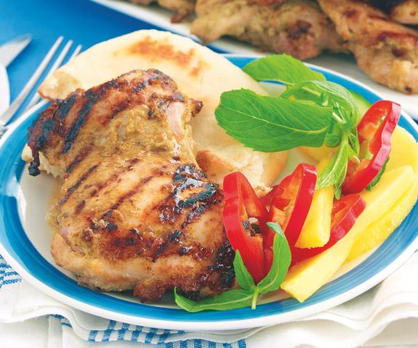 Curried chicken with mango salad recipe   Food To Love