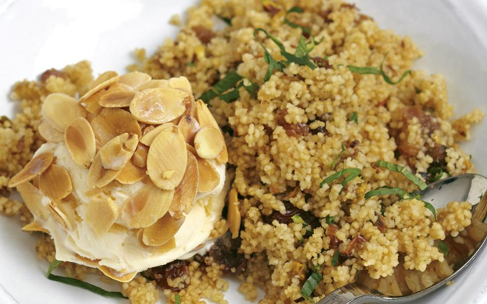 Sweet couscous with rosewater recipe | FOOD TO LOVE