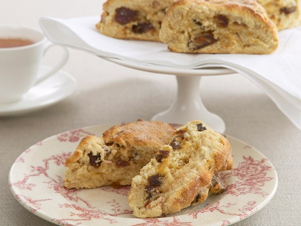 Date and walnut scones