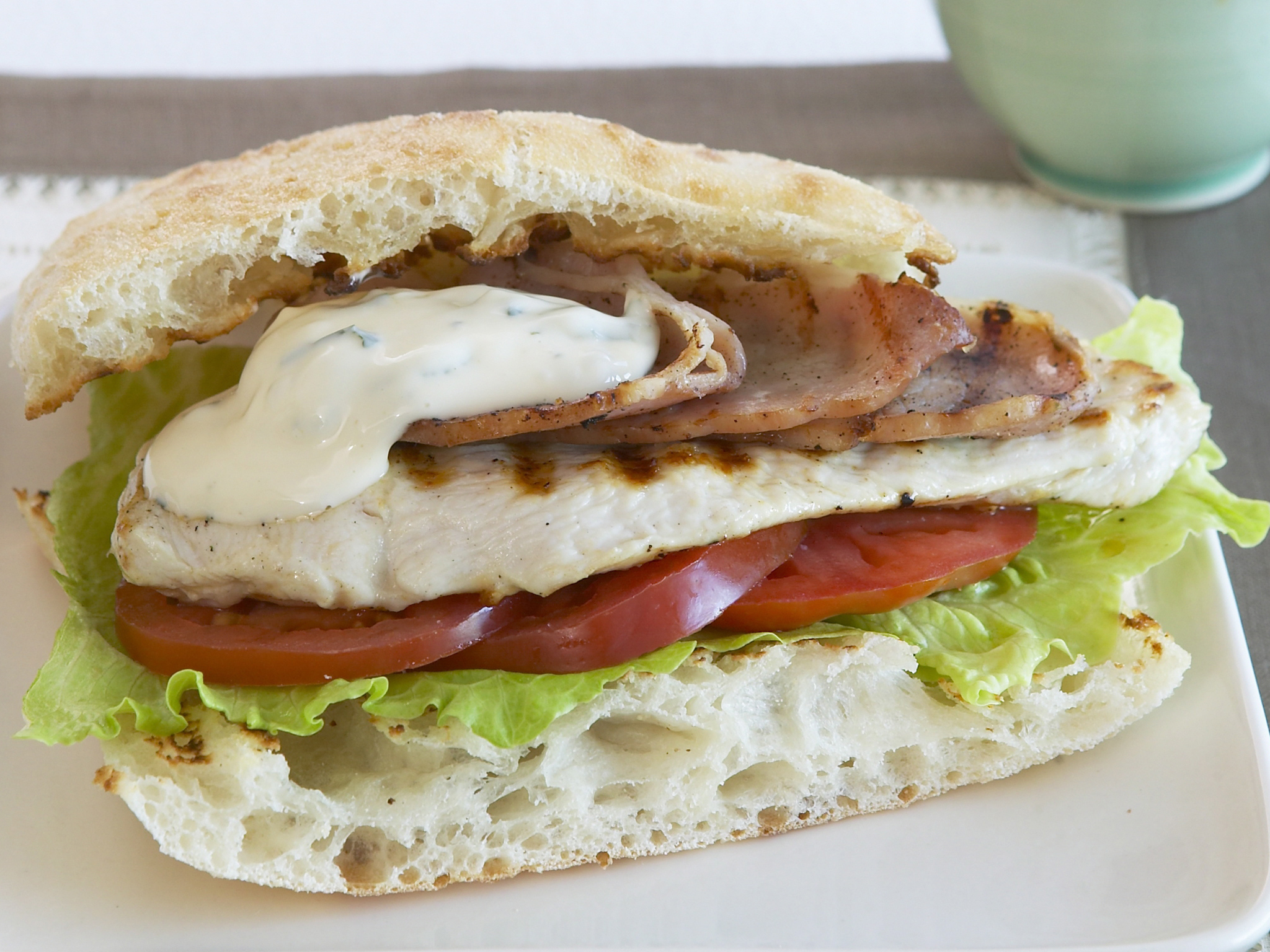 Grilled Chicken Burger With Lime And Coriander Mayonnaise Recipe Food To Love