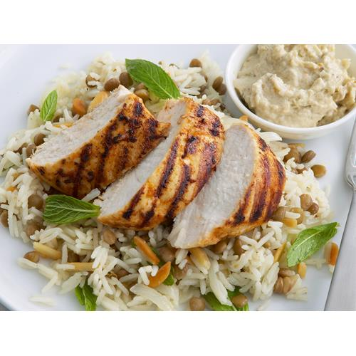 Lentil pilaf with char-grilled chicken recipe | Food To Love