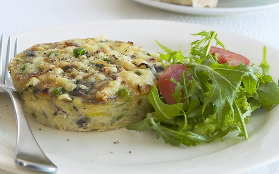 Spaghetti, mushroom and prosciutto frittata recipe | FOOD TO LOVE