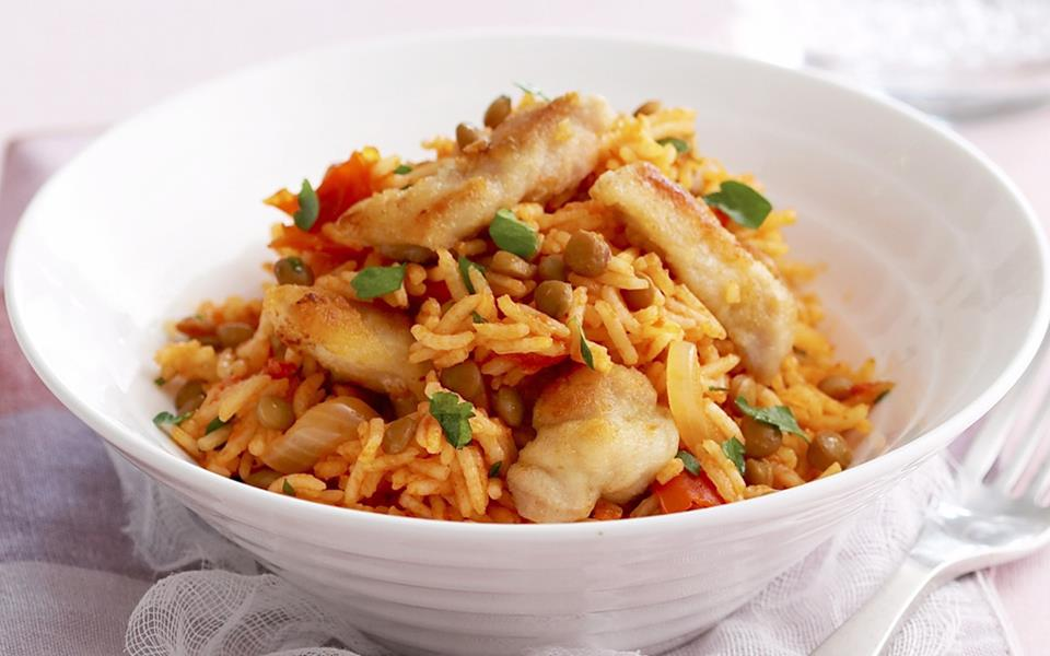 Spiced chicken and tomato pilaf recipe | FOOD TO LOVE