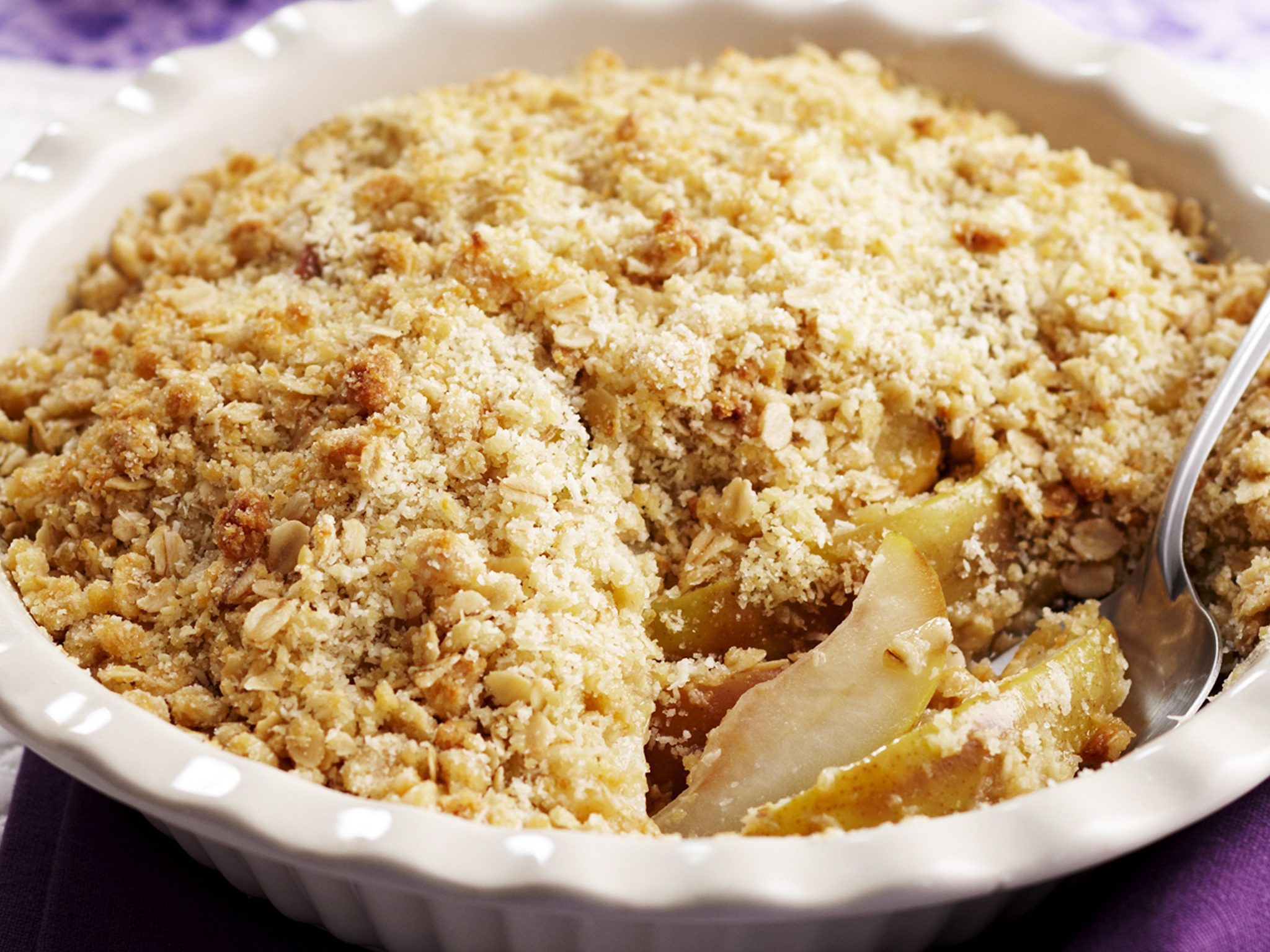 apple and pear crumble recipe | food to love