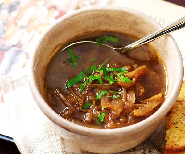 Caramelised onion and lentil soup recipe | Food To Love