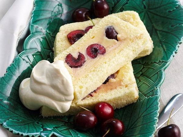 Cherry custard cake
