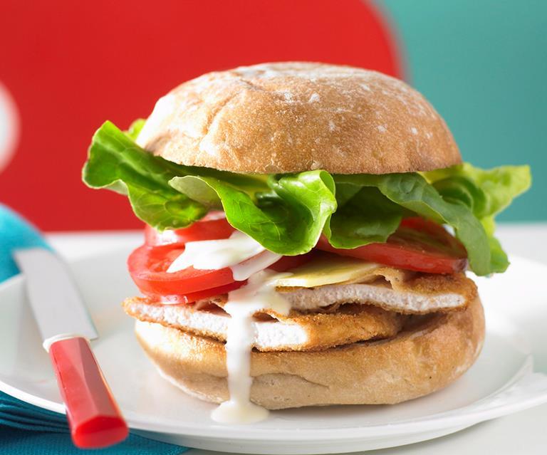 Chicken Schnitzel Burger Australian Women S Weekly Food