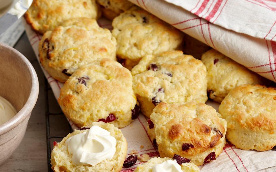Cranberry and orange scones recipe | FOOD TO LOVE