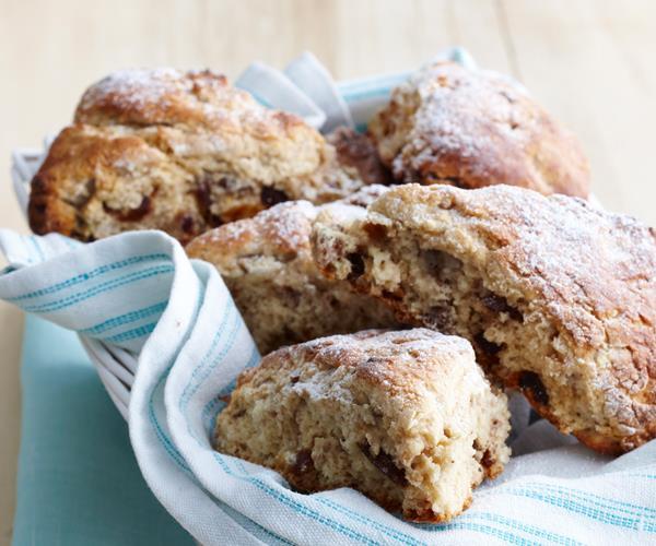 Date, walnut and banana scones recipe | Food To Love
