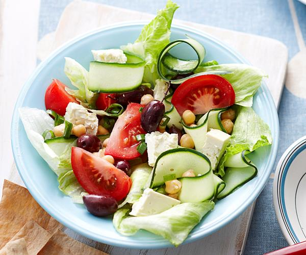 Greek style salad with chickpeas recipe | Food To Love