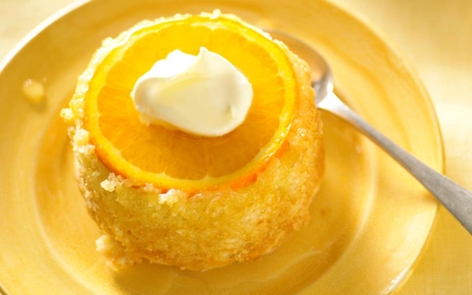 Orange and almond cakes with honey syrup recipe | FOOD TO LOVE