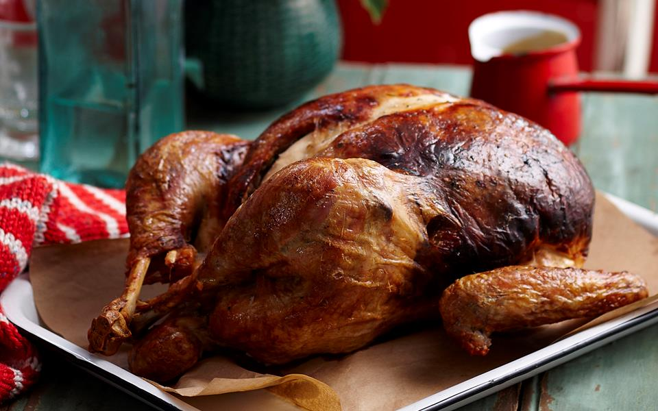 Roast turkey with stuffing recipe food to love for 3 8 kg turkey cooking time