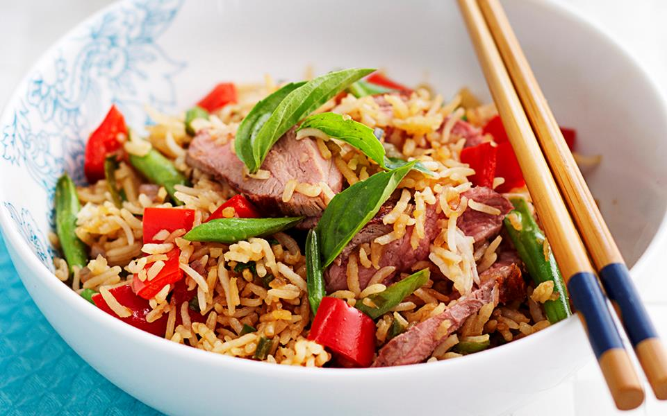 Thai-style turkey fried rice recipe | FOOD TO LOVE