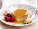 White chocolate creme caramel
