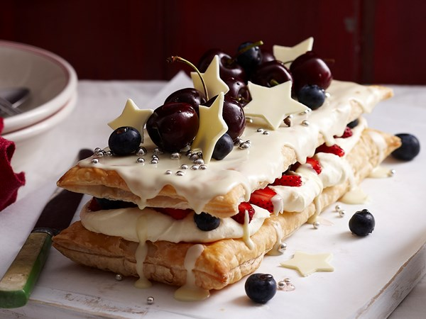 White chocolate Mille-feuille