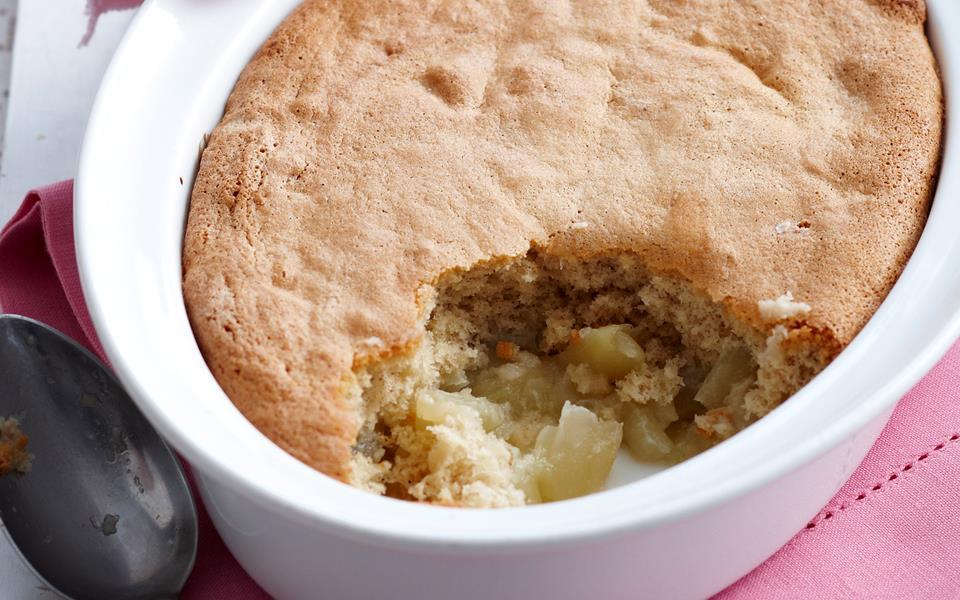 apple and vanilla sponge pudding recipe food to love