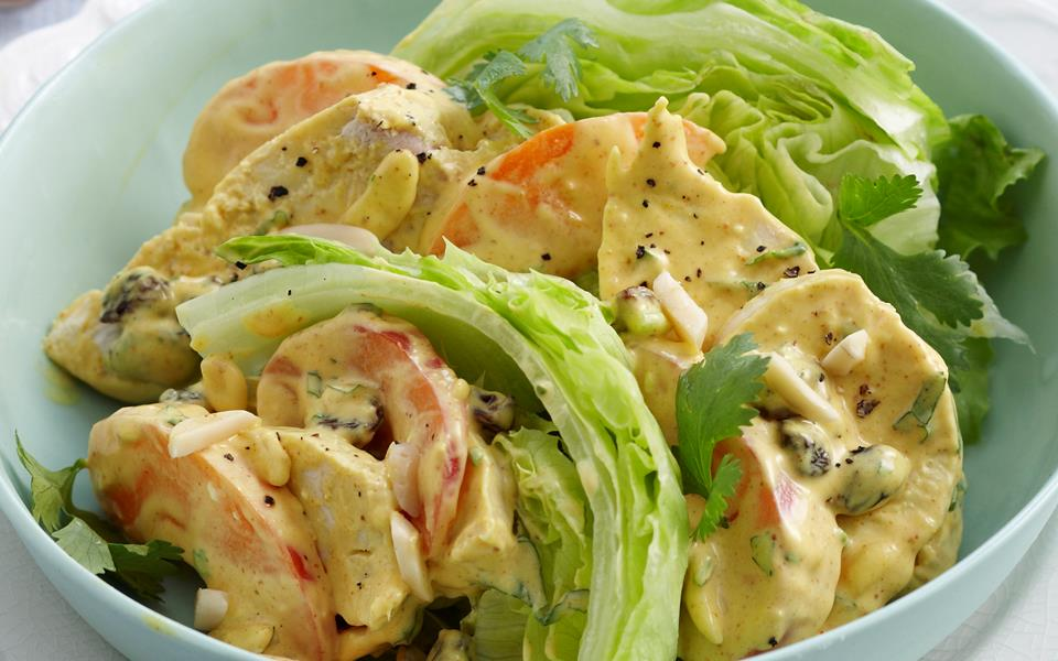 Coronation chicken and apricot salad recipe | FOOD TO LOVE