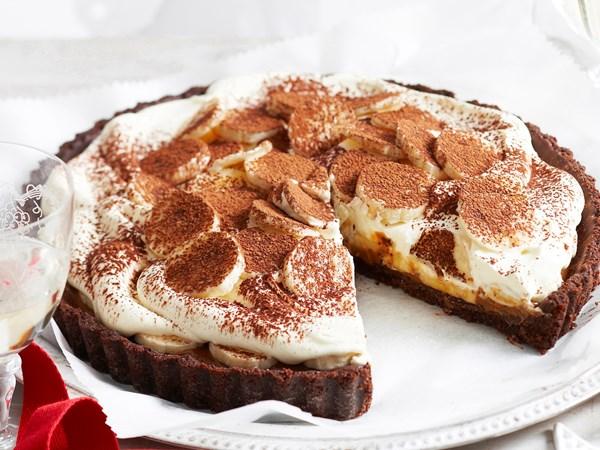 Double chocolate banoffee pie