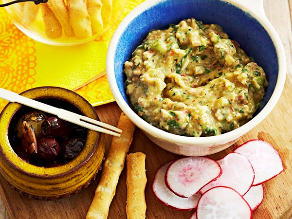 Eggplant and tarragon dip
