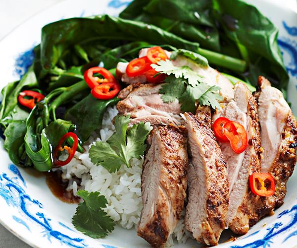 Five Spice Pork With Asian Slaw Recipe — Dishmaps
