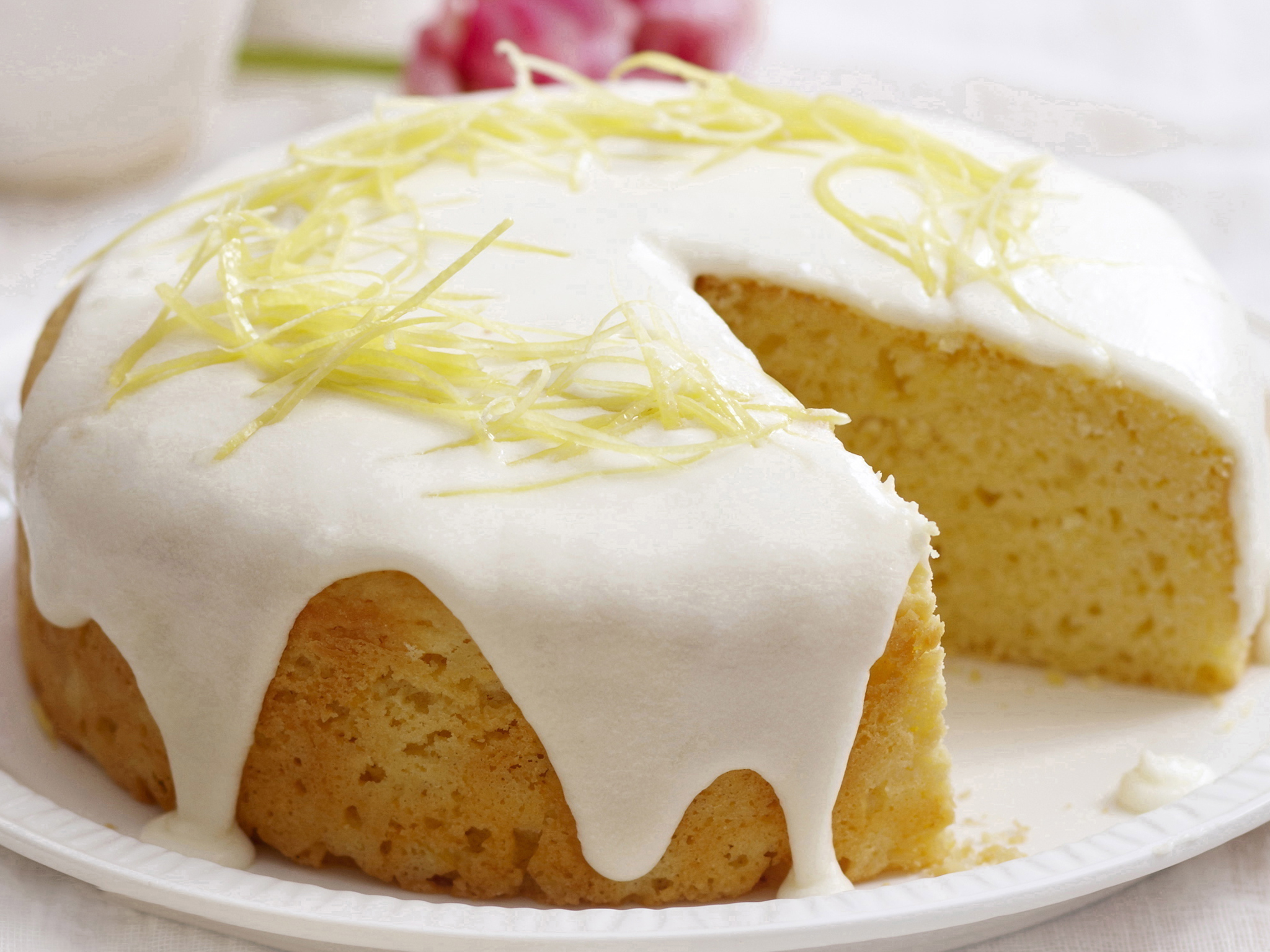Lemon Sour Cream Cake With Zesty Lemon Icing Recipe Recipe Food To