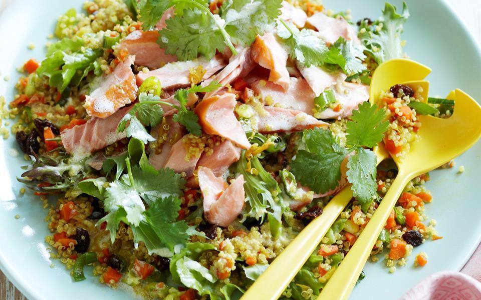 Quinoa salmon salad recipe   FOOD TO LOVE