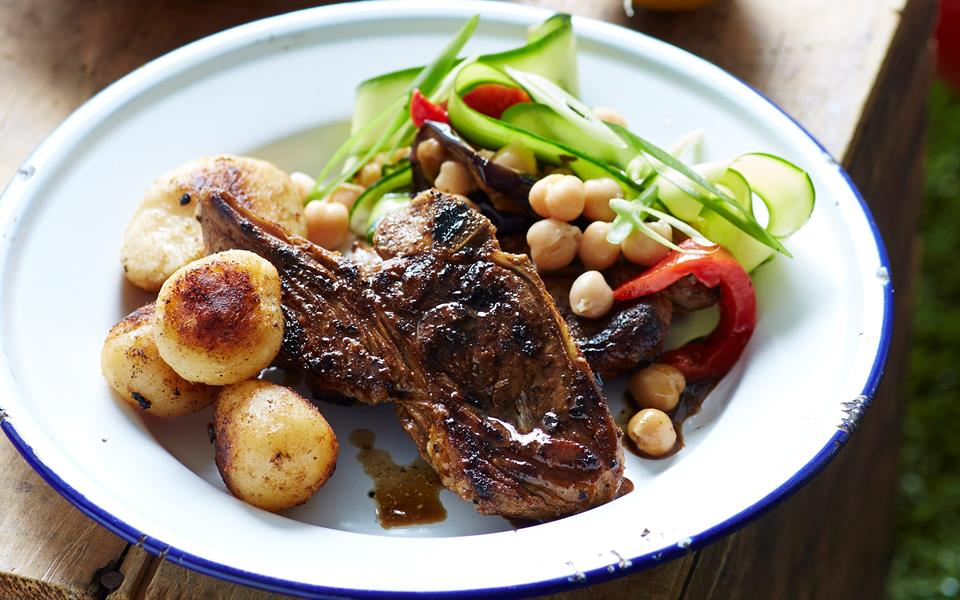 Spiced lamb chops and potatoes recipe | FOOD TO LOVE