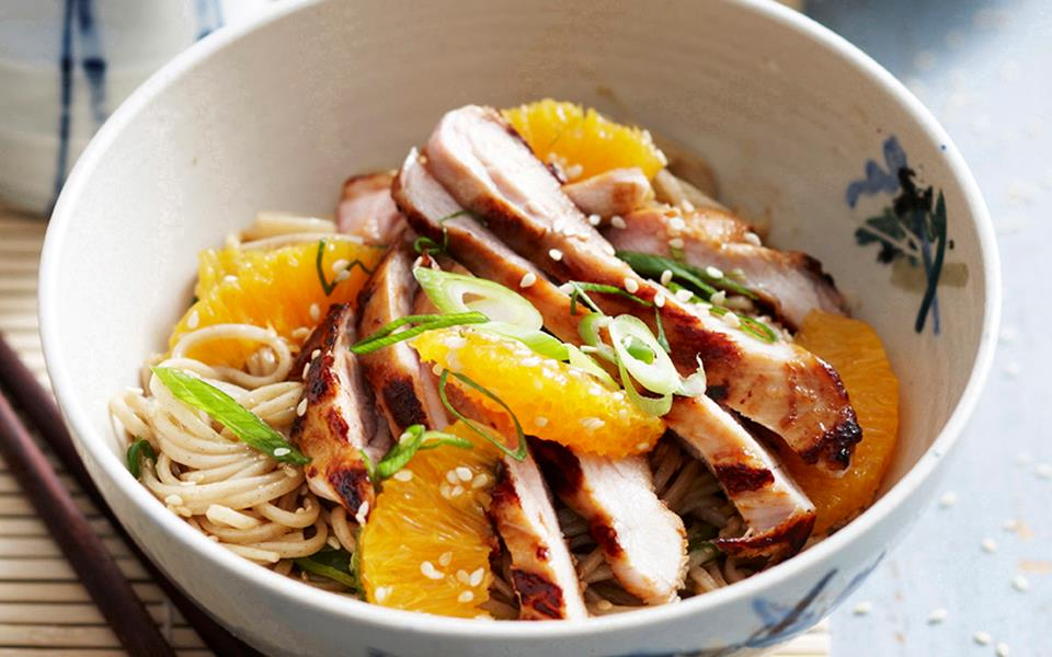Teriyaki chicken with soba noodle salad recipe | FOOD TO LOVE
