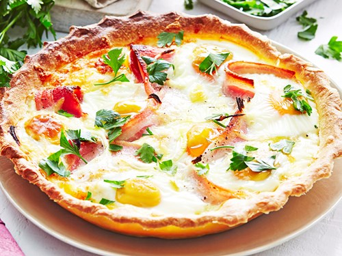 Country egg and bacon pie