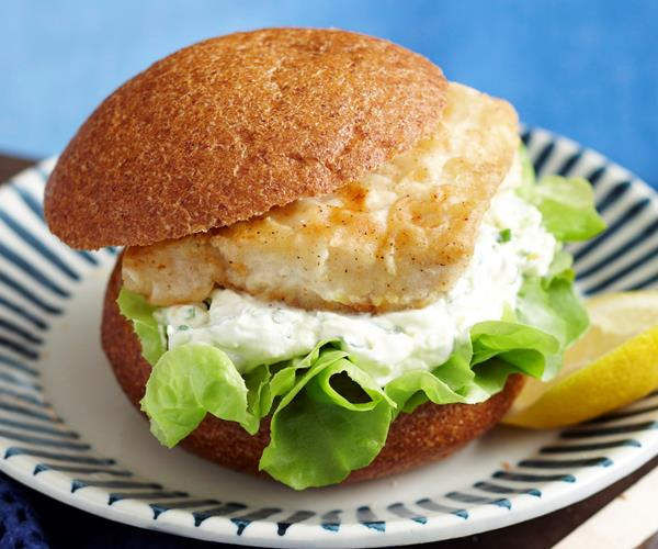 Easy fish burgers recipe food to love for Fish burger recipe