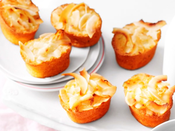 Gluten-free lime and coconut friands