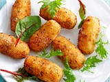 Ham, cheese and corn croquettes