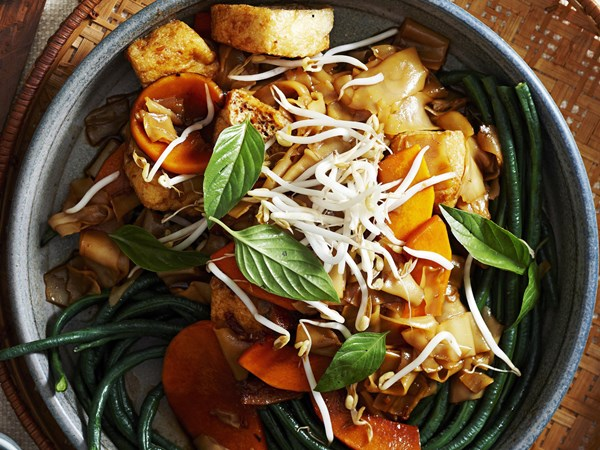Sticky pumpkin and rice noodles