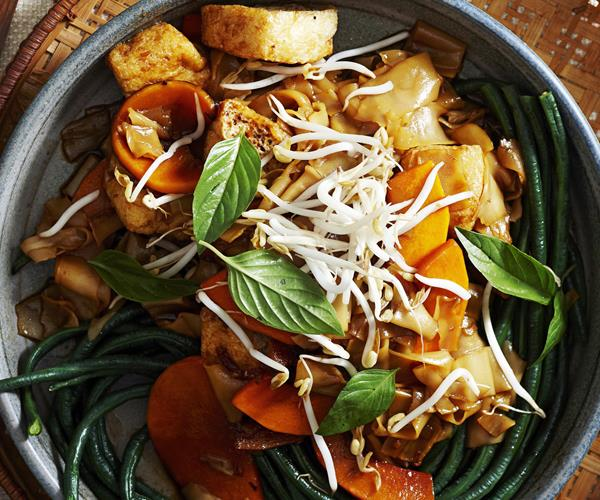 Sticky pumpkin and rice noodles recipe | Food To Love