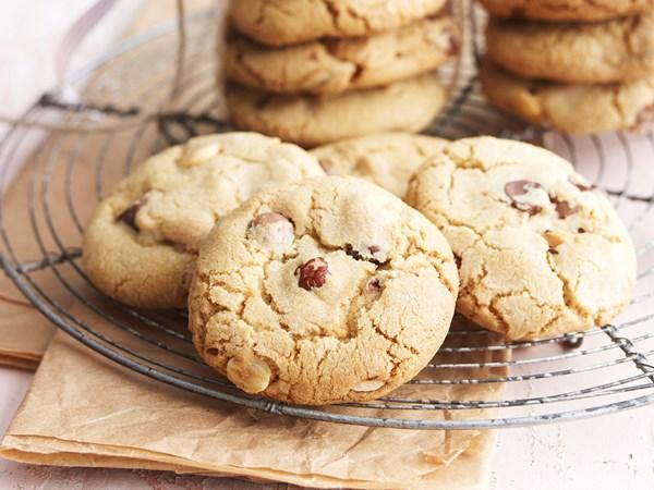 Triple choc mega cookies