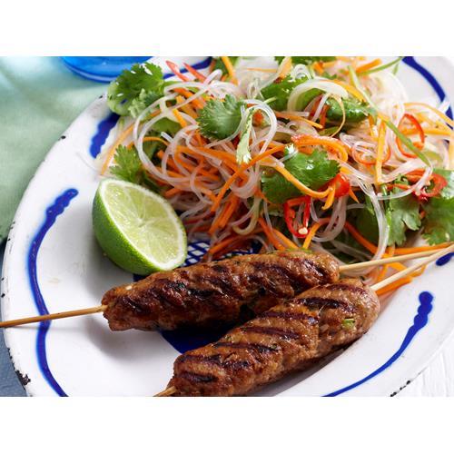 Vietnamese pork skewers with noodle salad recipe | Food To Love