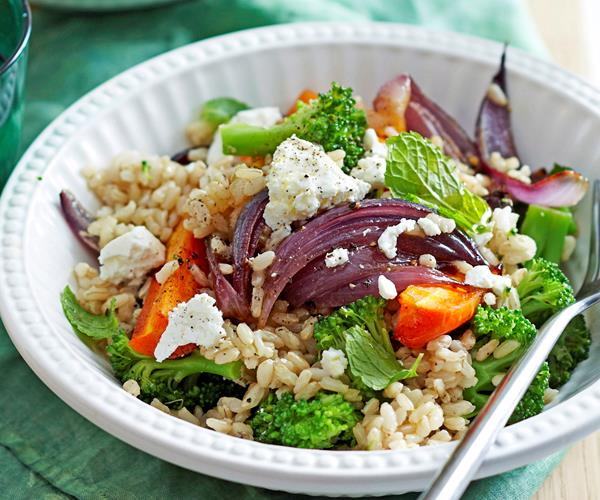 Warm roast carrot and brown rice salad recipe   Food To Love
