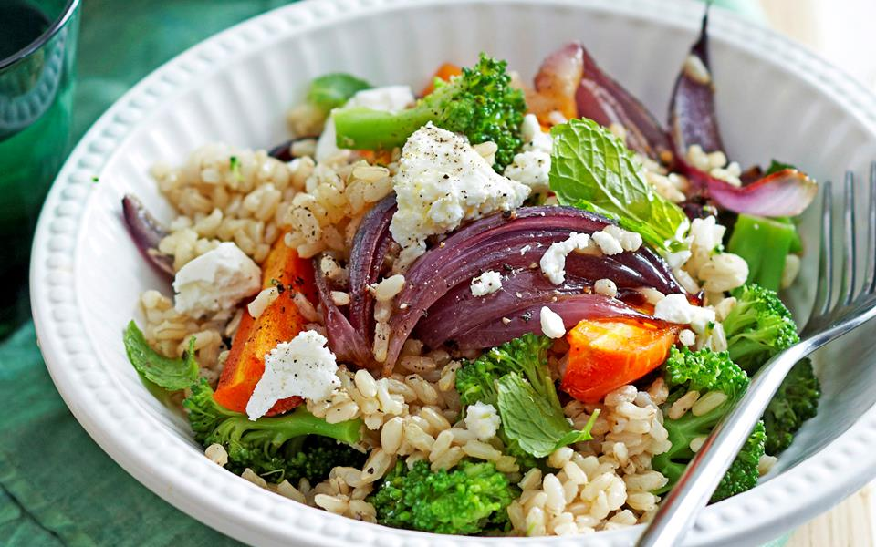 Warm roast carrot and brown rice salad recipe | FOOD TO LOVE
