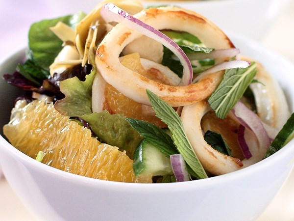 Calamari and orange salad