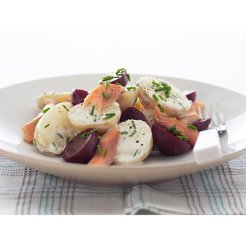Smoked trout, beetroot and potato salad recipe | Food To Love