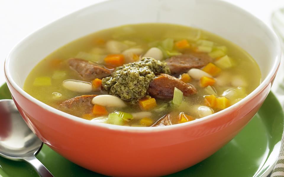 Bean And Sausage Soup Recipe — Dishmaps